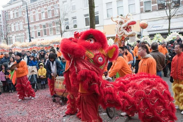 Chinese New Year With Pomp and Show