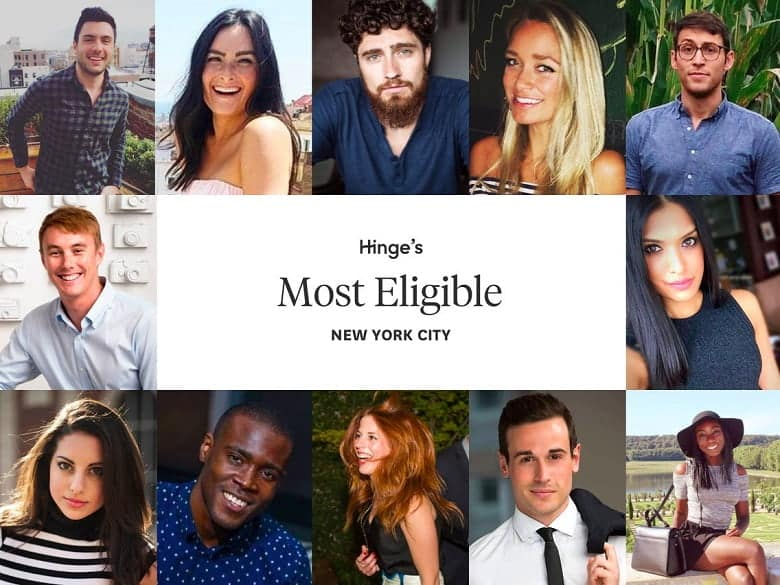 Dating app Hinge reveals its 40 most eligible NY users