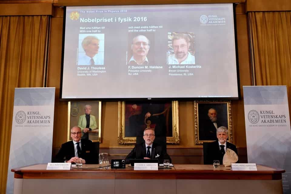 Three Brits Awarded Nobel Prize For Physics