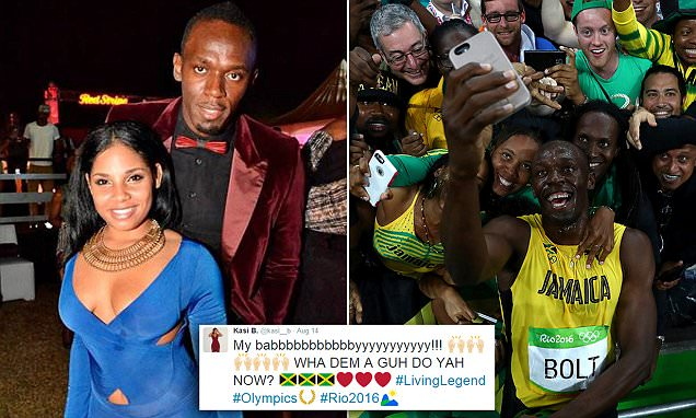 Usain Bolt's Girlfriend Kasi Bennett Cheers Him on to Eighth Gold Medal