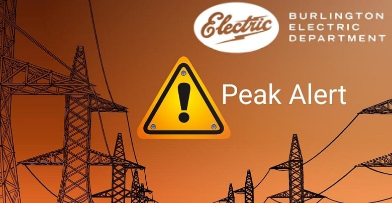 Burlington Electric Department Issues Alert to Reduce Energy Usage
