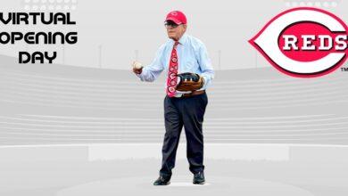 Photo of Ohio Gov. DeWine Throws 1st Pitch for Cincinnati Reds' Season