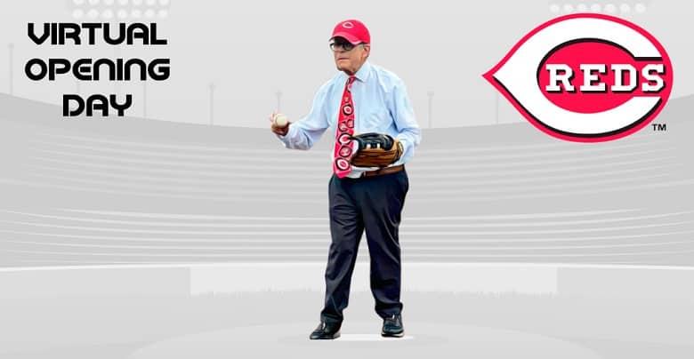 Gov. DeWine Throws 1st Pitch for Cincinnati Reds' Season