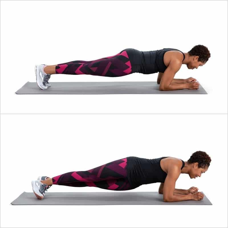 Hip rotation in plank position - Ab Exercises