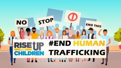 Photo of Rally held in Frankfort on 'World Day Against Trafficking in Persons'