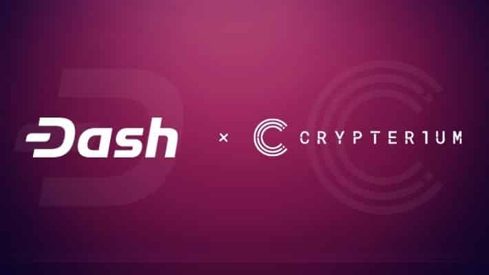 DASH Now Available on Crypto Wallet Crypterium