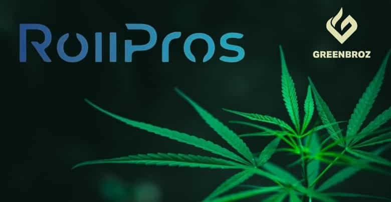 Cannabis Tech Firm GreenBroz Teams Up with RollPros